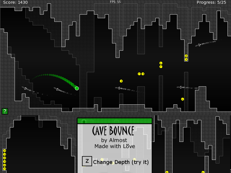 cave bounce splash menu banner Ludum Dare Matthew Hyndman