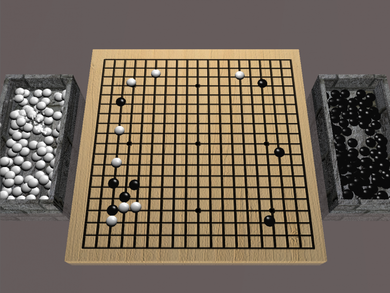 3D Go board game