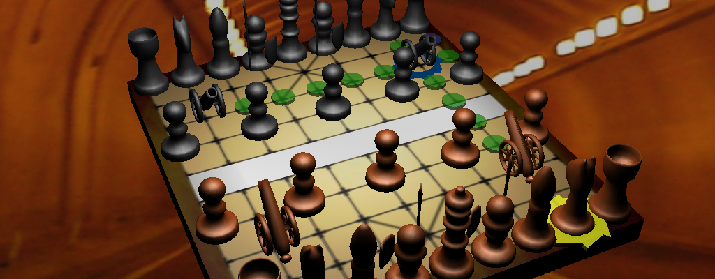 Blender 3D chinese chess game almost matt